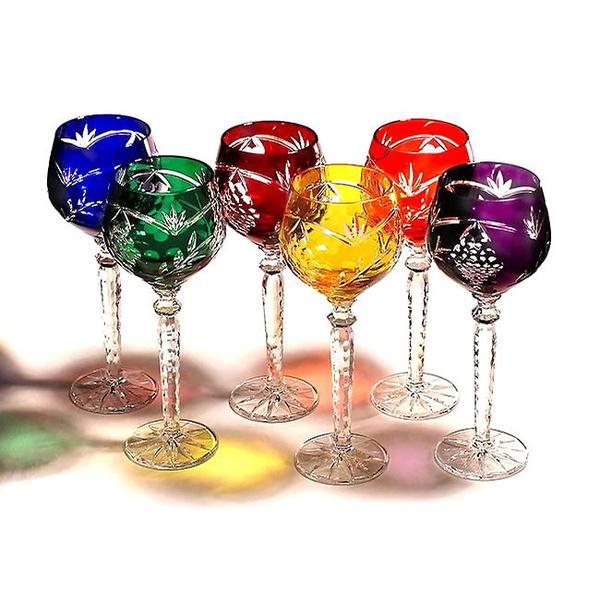 Σετ 6 ποτήρια κρασιού κρυστάλλινα Nachtmann σχέδιο Σταφύλι