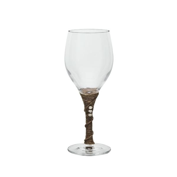Ποτήρι κρασιού με λινάτσα