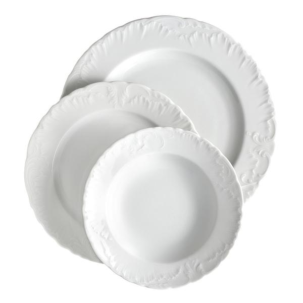 Πιάτα 72τμχ white night & μαχαιροπίρουνα 60τμχ