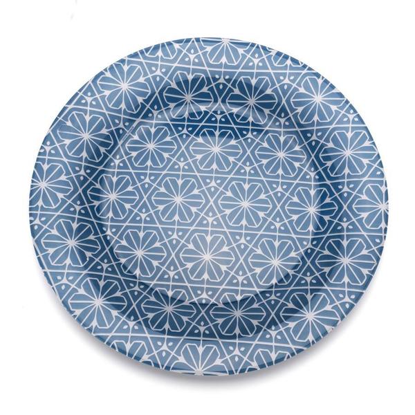 S/6 τμχ γυάλινο πιάτο Maiolica
