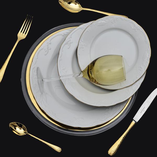 Σετ 72 τμχ Tulip Χρυσή ρίγα