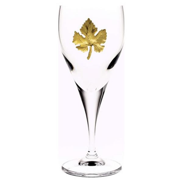 Ποτήρι κρασιού κρυστάλλινο με επίχρυσο τριφύλλι