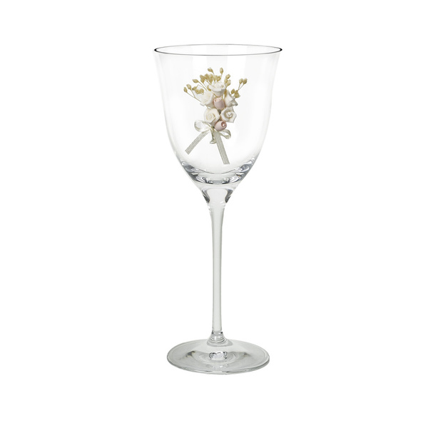 Κρυστάλλινο ποτήρι κρασιού με ανθάκια