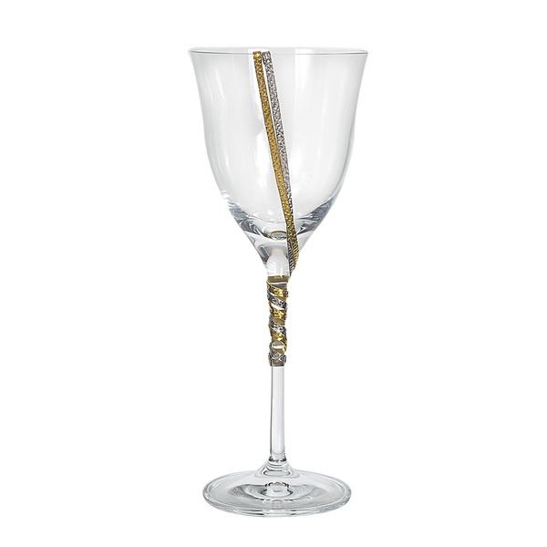 Ποτήρι κρασιού με σφυρήλατες βέργες