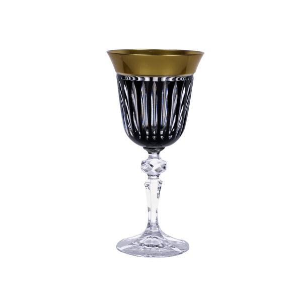 Ποτήρι κρασιού Julia Black Gold