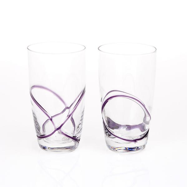 Σετ 6 ποτήρια νερού αμέθυστος