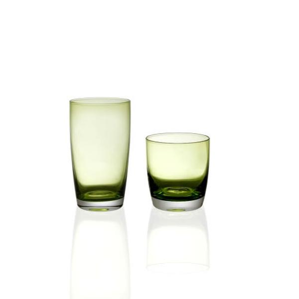 Σετ 12 τεμ ποτήρια καθιστά Irid green