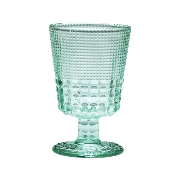 S/6 τμχ κρασιού κολονάτο Pearls Light Green