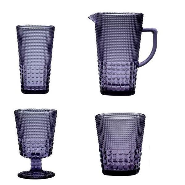 Σετ 18 ποτήρια+κανάτα Pearls purple