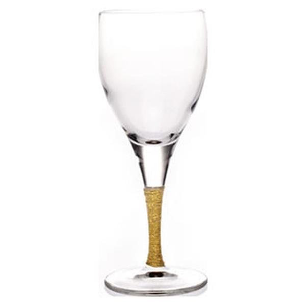 Ποτήρι κρασιού με χρυσό κορδόνι