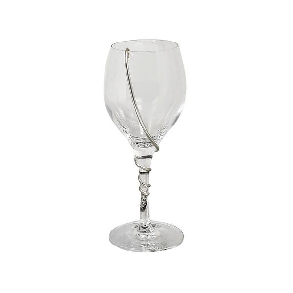 Ποτήρι κρασιού με επάργυρη βέργα