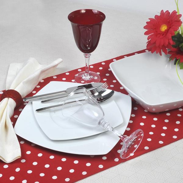 Σετ πιάτα για 12 άτομα Nagoua Λευκό