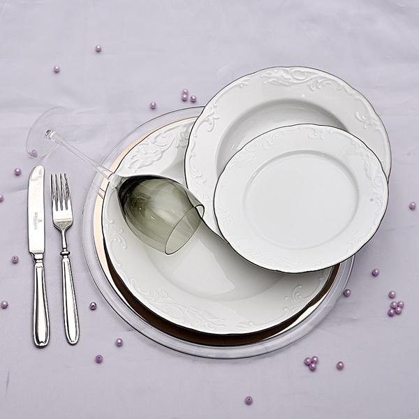 Πιάτα για 6 άτομα Tulip Πλατίνα