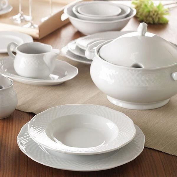 Σετ 72τμχ λευκό πιάτων Arianna