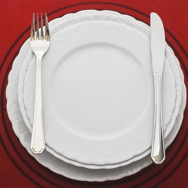 Πιάτα 72τμχ white night