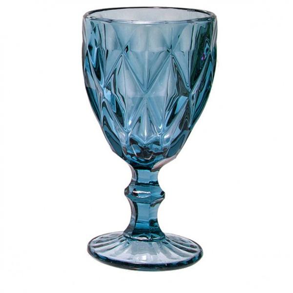 Σετ 6 ποτήρια νερού ρόμβος μπλε
