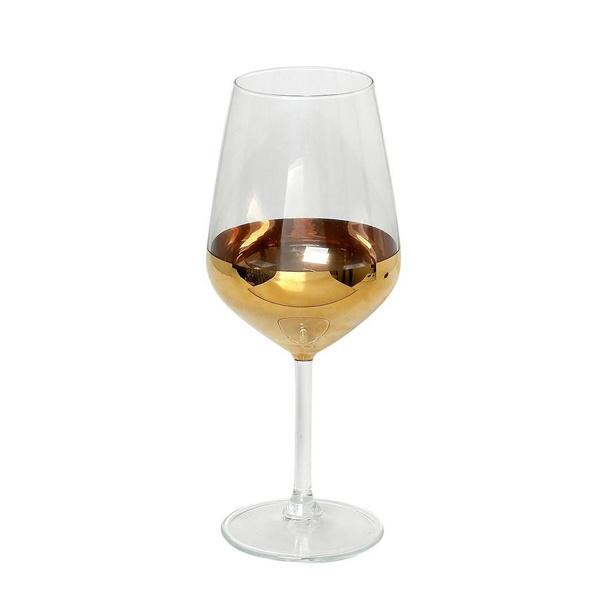 Ποτήρι κρασιού με χρυσή λεπτομέρεια