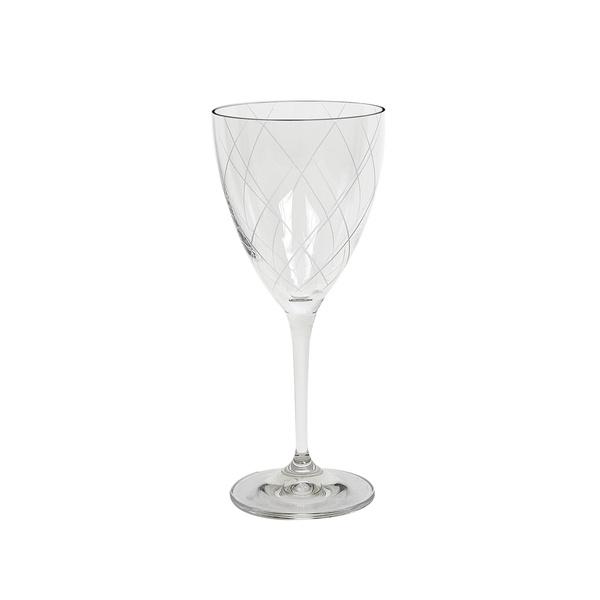 Κρυστάλλινο ποτήρι κρασιού σχέδιο ρόμβος