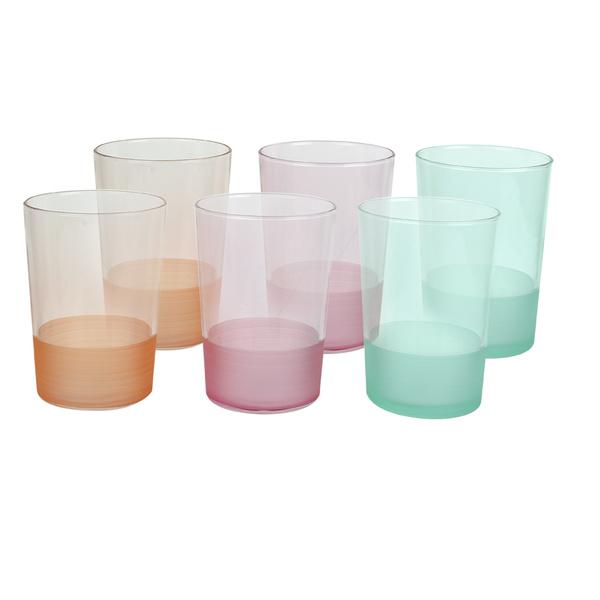 Σετ 6 ποτήρια νερού 3χρώματα