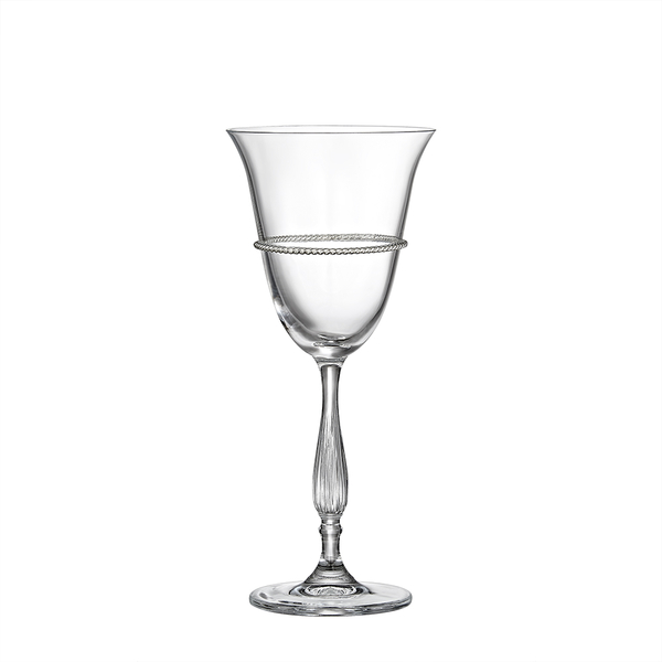 Ποτήρι κρασιού  με επάργυρη μπορνούρα