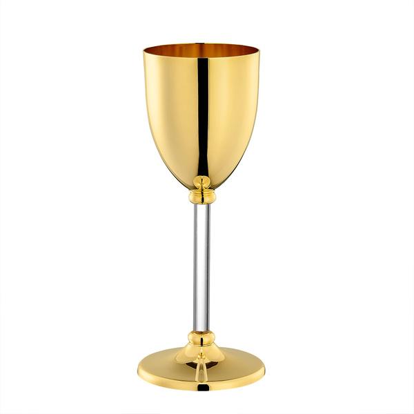 Επίχρυσο ποτήρι κρασιού με πλέξι
